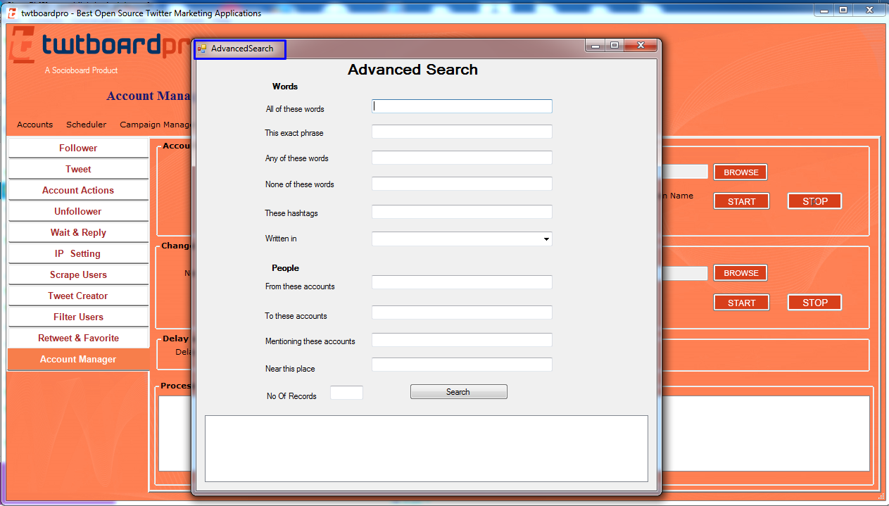 new features advanaced search