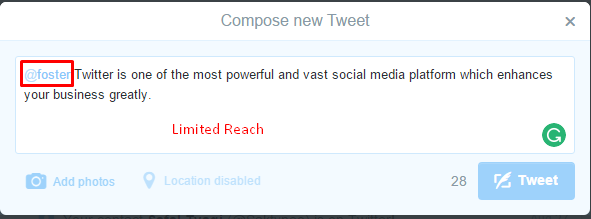 tweet limited reach