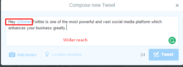 tweet wider reach