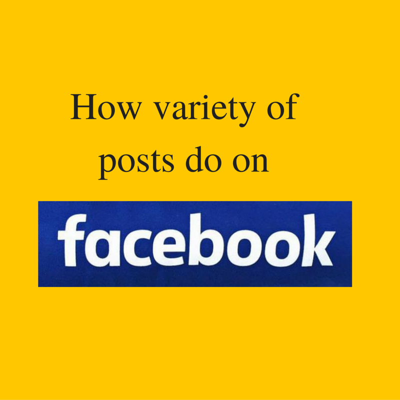 How variety of posts perform on Facebook ?